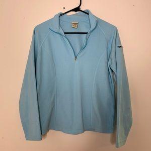 LL Bean Fleece Pullover Quarter Zip Small